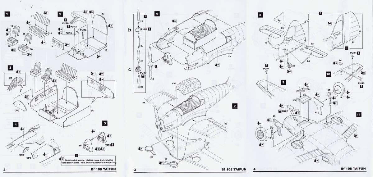 "FLY-Bf-108-Taifun-12 Messerschmitt Bf 108 ""Taifun"" im Maßstab 1:72 von FLY"