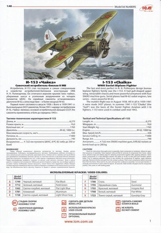 ICM-Polikarpov-I-153-1zu48-25 Polikarpov I-153 von ICM (1:48)