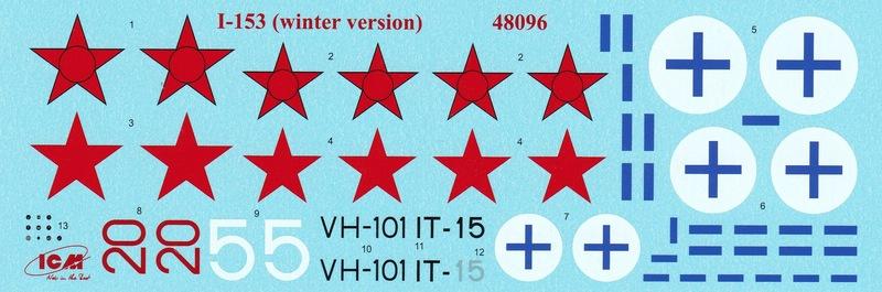 ICM-Polikarpov-I-153-Skifahrwerk-Decals-und-Anleitung-3 Polikarpov I-153 von ICM (1:48)