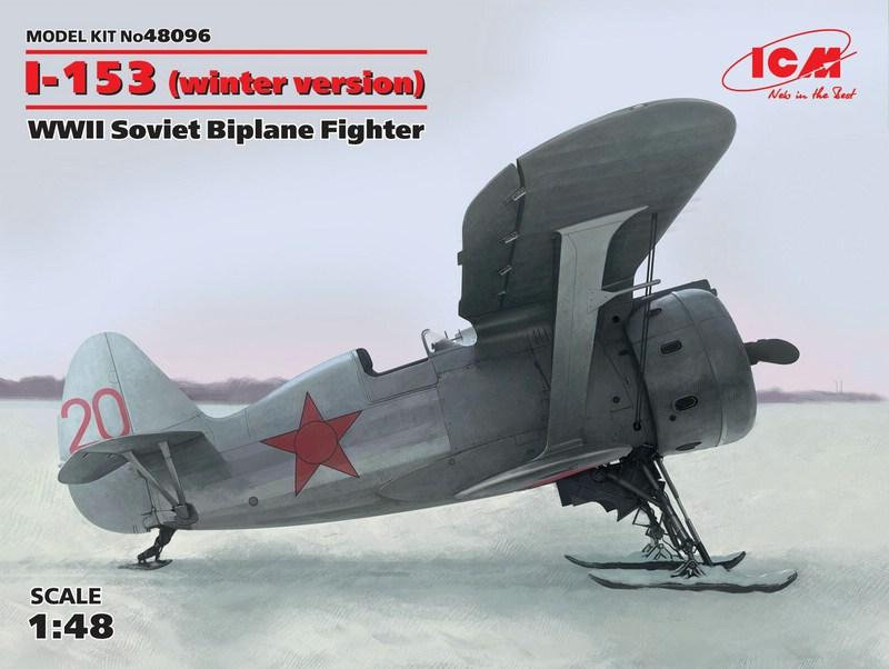 ICM-Polikarpov-I-153-Skifahrwerk-Deckelbild Polikarpov I-153 von ICM (1:48)