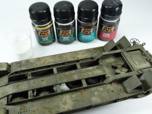 M19-029-300x225 Build Review : U.S. M19 Tank Transporter with Hard Top Cab 1:35 Merit International (63501)
