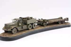 M19-041-300x200 Build Review : U.S. M19 Tank Transporter with Hard Top Cab 1:35 Merit International (63501)