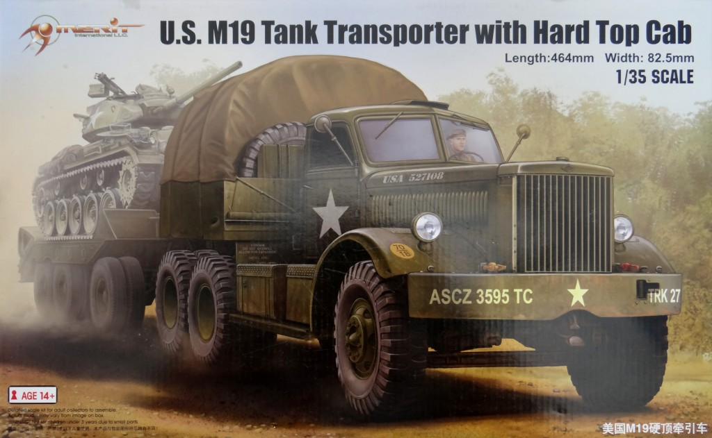 M19-046 Build Review : U.S. M19 Tank Transporter with Hard Top Cab 1:35 Merit International (63501)