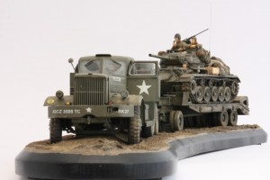 M19-050-300x200 Build Review : U.S. M19 Tank Transporter with Hard Top Cab 1:35 Merit International (63501)
