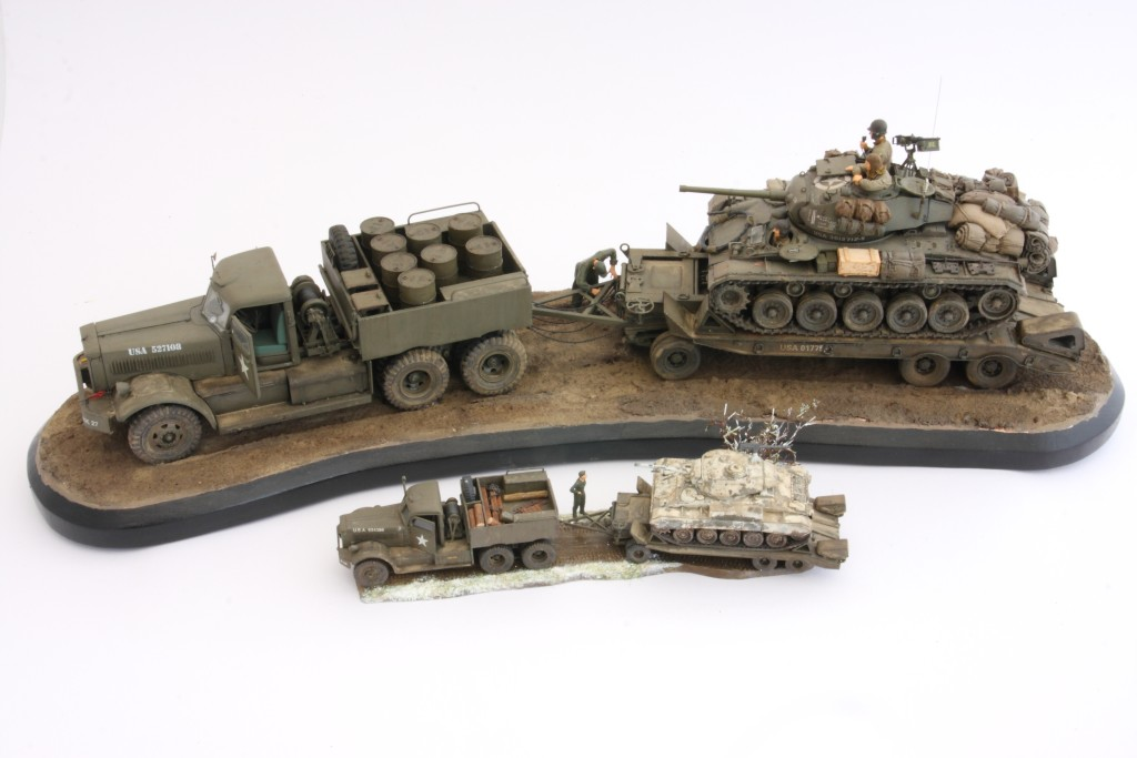 M19-051 Build Review : U.S. M19 Tank Transporter with Hard Top Cab 1:35 Merit International (63501)