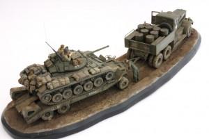 M19-052-300x200 Build Review : U.S. M19 Tank Transporter with Hard Top Cab 1:35 Merit International (63501)