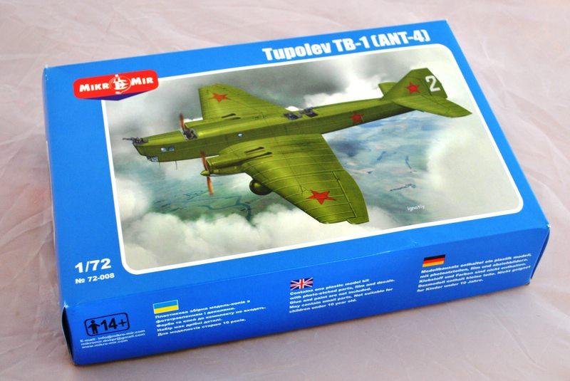 Mikro-Mir-TB-1-20 Schwerer sowjetischer Bomber TB-1 (ANT-4) von Mikro Mir 1:72