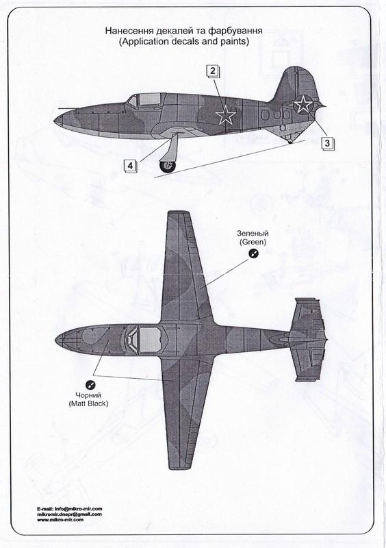 MikroMir-48010-BI-1-11 Bereznyak-Issajev BI-1 von MikroMir (1:48)