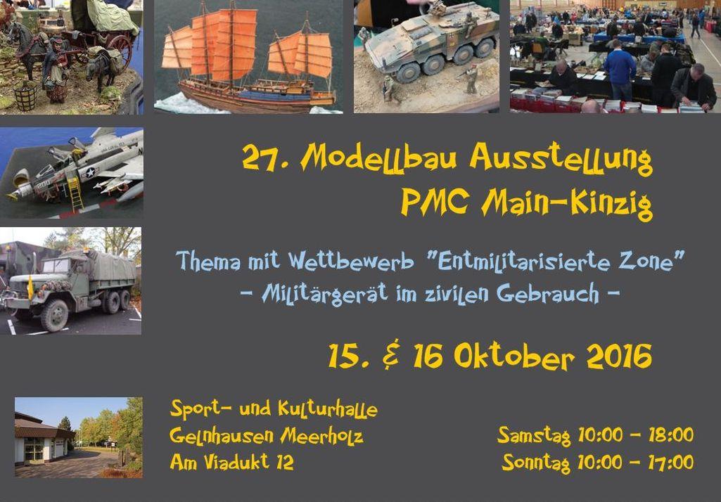 PMC-Main-Kinzig-2016-Flyer-vorne 27. Ausstellung des PMC Main-Kinzig in Gelnhausen am 15./16. Oktober