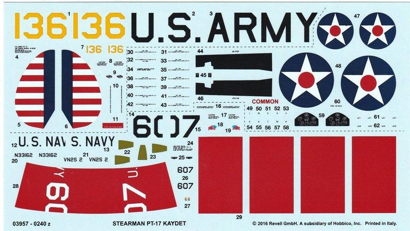 Revell-03957-Stearman-PT-17-Kaydet-13 Stearmann PT-17 Kaydet von Revell im Maßstab 1:48