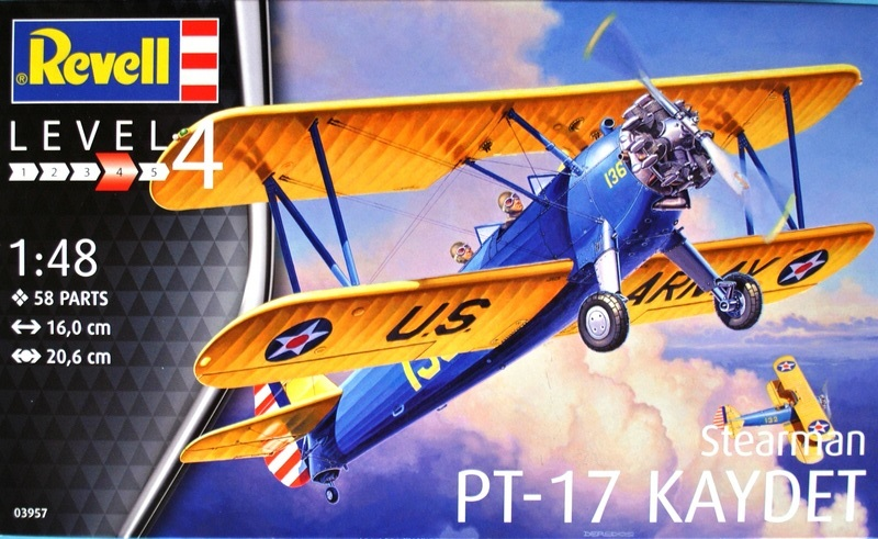 Revell-03957-Stearman-PT-17-Kaydet-18 Stearmann PT-17 Kaydet von Revell im Maßstab 1:48