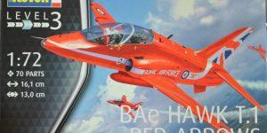 "BAe Hawk T.1 ""Red Arrows"" von Revell im Maßstab 1:72"