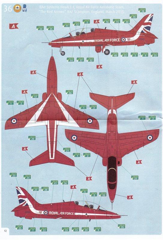 "Revell-04921-Hawk-T.1-Red-Arrows-29 BAe Hawk T.1 ""Red Arrows"" von Revell im Maßstab 1:72"