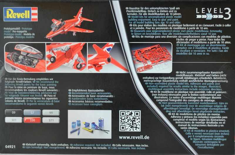 "Revell-04921-Hawk-T.1-Red-Arrows-7 BAe Hawk T.1 ""Red Arrows"" von Revell im Maßstab 1:72"