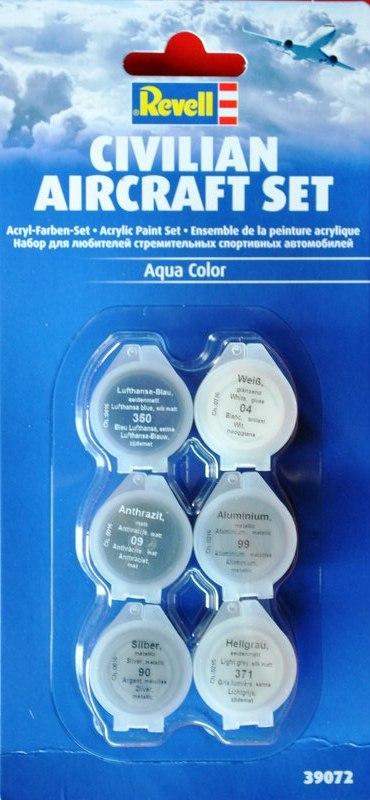 Revell-Acryl-Farbsets-39072 REVELL Farbsets für Modellbauanfänger