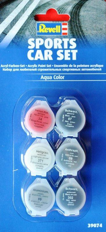 Revell-Acryl-Farbsets-39074 REVELL Farbsets für Modellbauanfänger