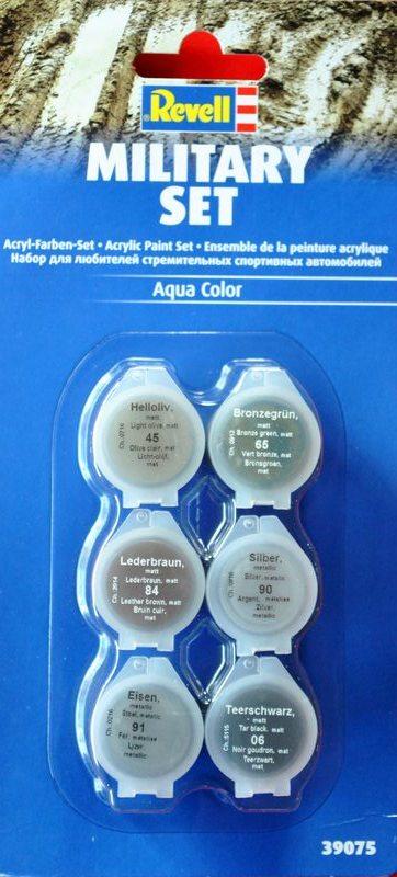 Revell-Acryl-Farbsets-39075 REVELL Farbsets für Modellbauanfänger