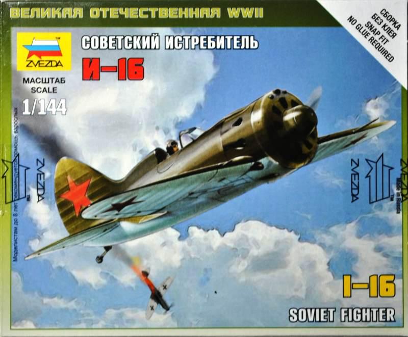 Zvezda-Polikarpov-I-16-1zu144-3 Polikarpov I-16 von Zvezda im Maßstab 1:144