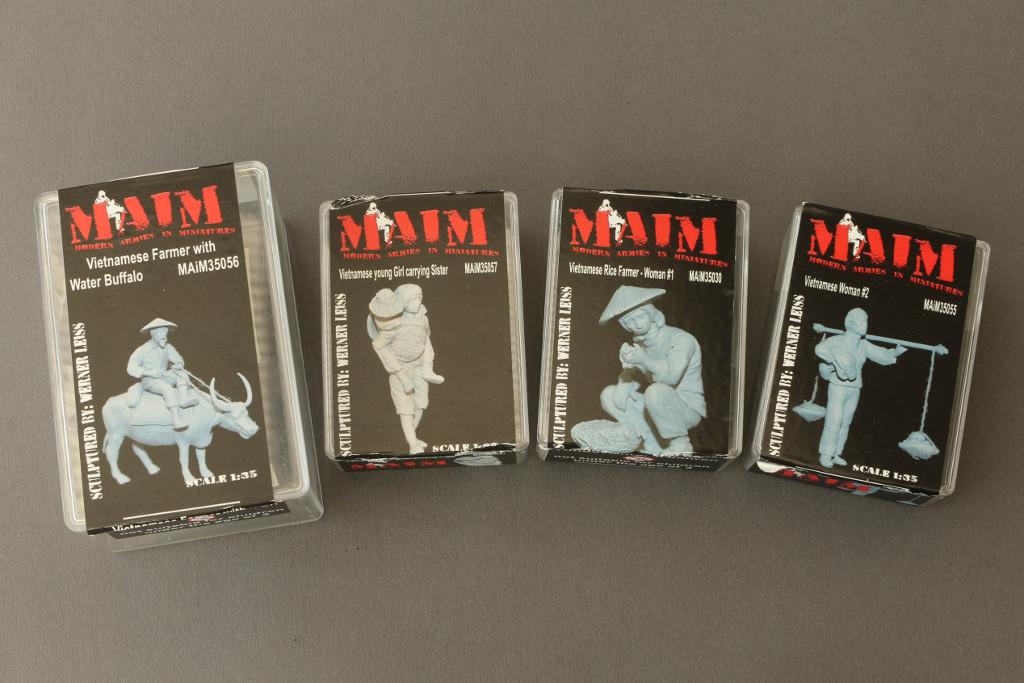 001-1 Auswahl vietnamesischer Figuren von MAiM in 1:35
