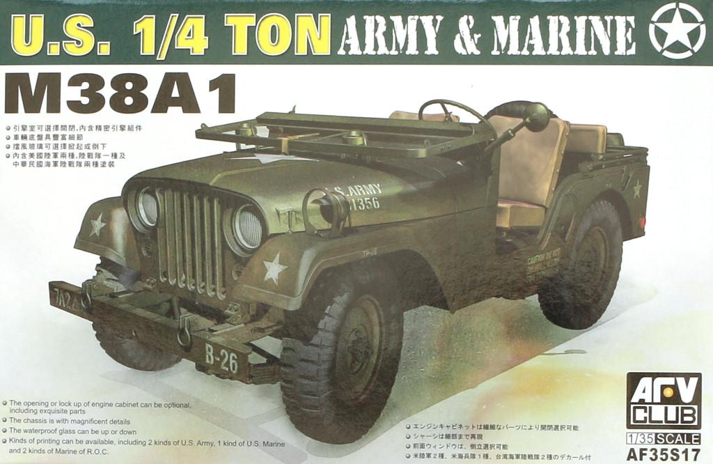 01-4 M38A1 U.S. 1/4 Ton Army & Marine 1:35 AFV Club (AF35S17)