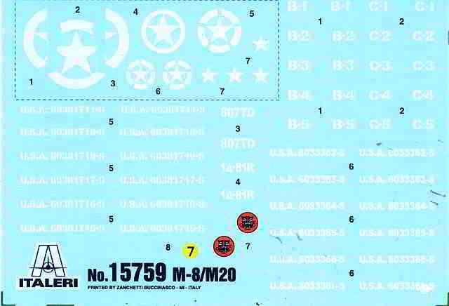 08_M8_Greyhound_Italeri_Decal M8 / M20 Greyhound von Italeri /Warlord Games # 15759 (1:56)
