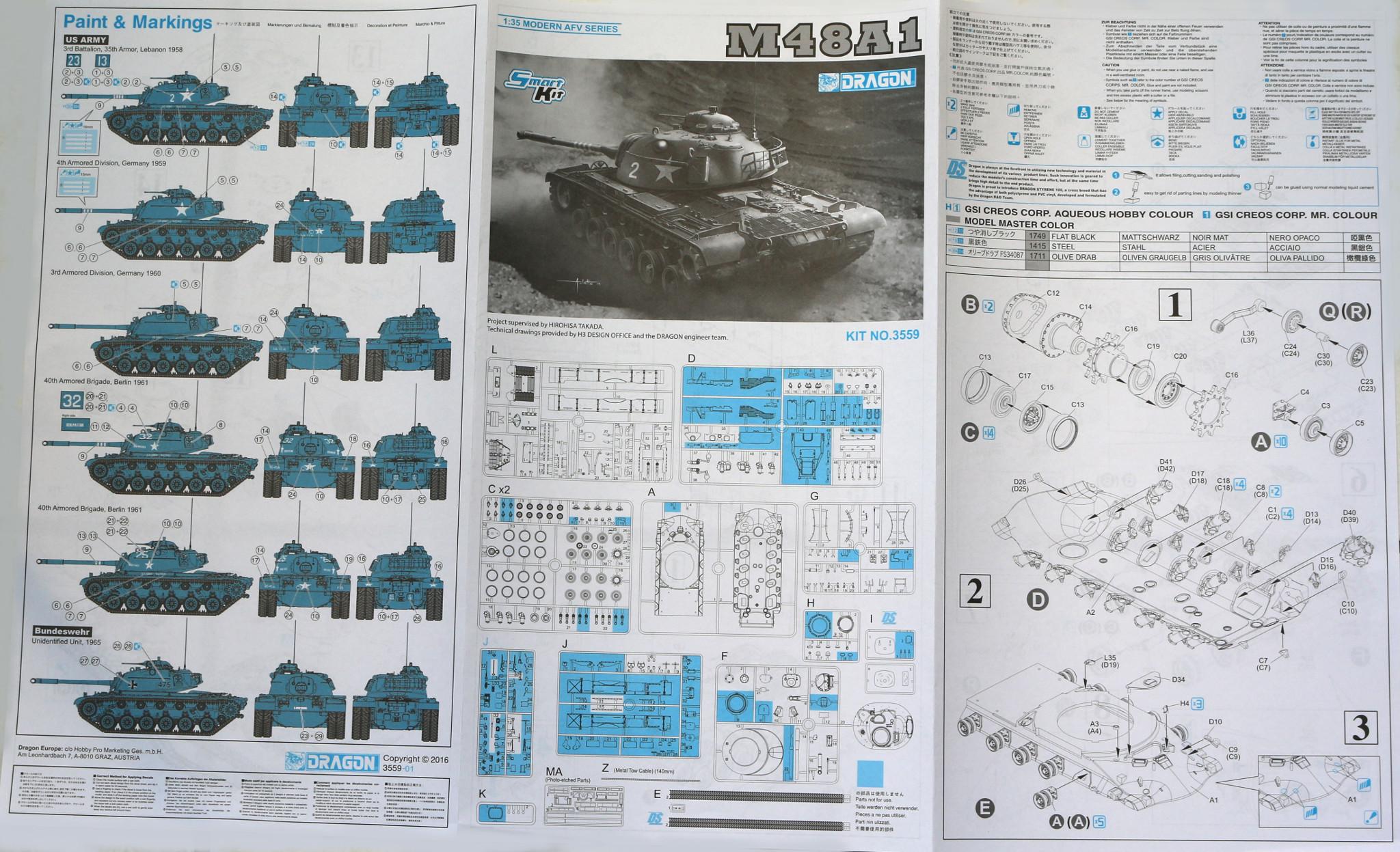 Anleitung1 M48A1 1:35 (Dragon 3559)