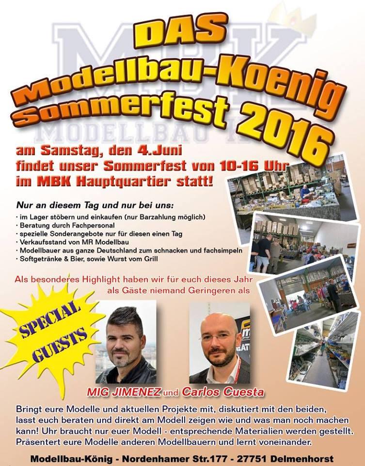 BK-Plakat-TdOT Sommerfest am 4. Juni bei Modellbau König in Delmenhorst