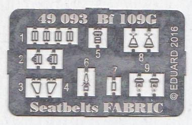 Eduard-49093-Bf-109G-Seatbelts-FABRIC-3 Photogeätztes Zubehör für die neue Bf 109G-6 von Eduard