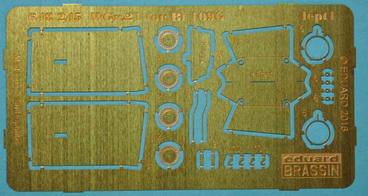 Eduard-648245-WGr.-21-for-Bf-109-1 Zubehör für Eduards Bf 109 G-6 - die BRASSIN-Sätze