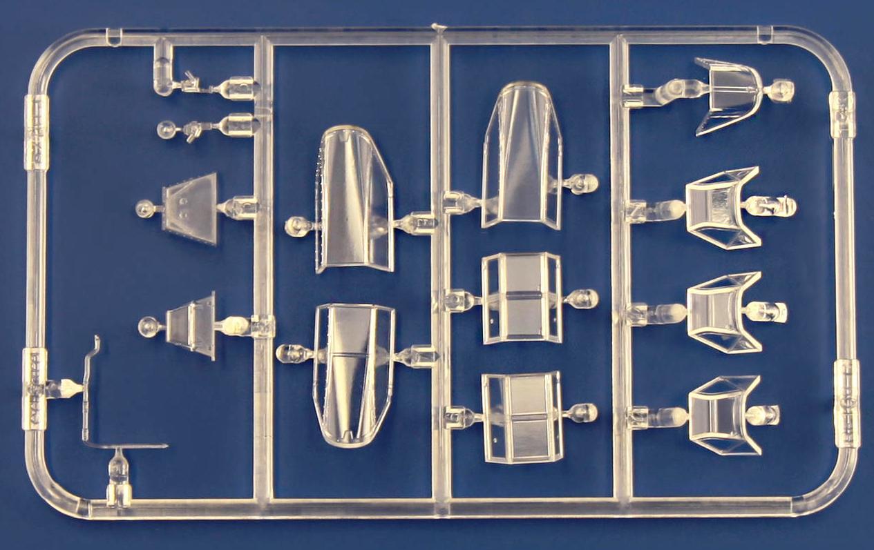 Eduard-82111-Bf-109-G-6-Glasteile Eduard Bf 109 G-6 lates series (# 82111 ) aus neuer Form (1:48)