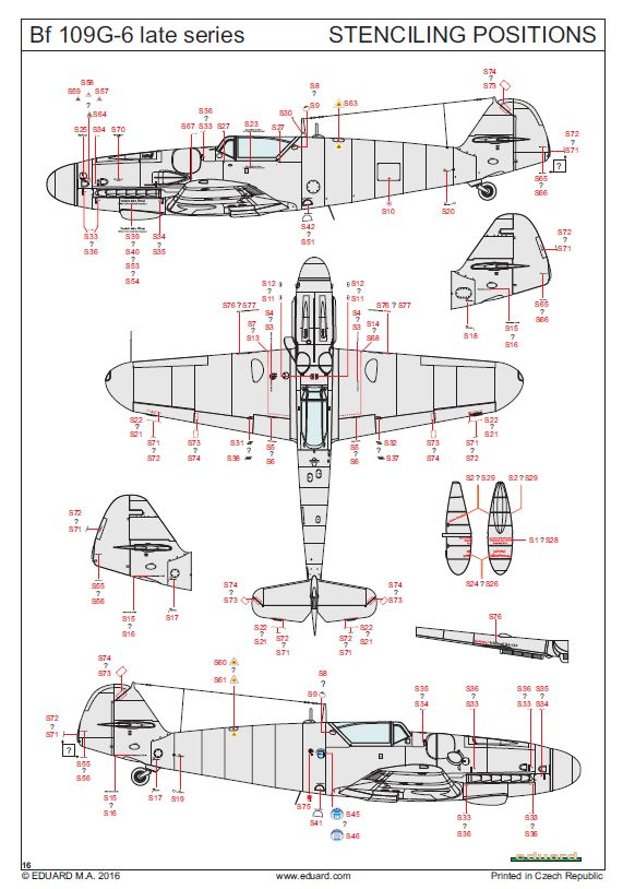 Eduard-82111-Bf-109-G-6-bauanleitung-11 Eduard Bf 109 G-6 lates series (# 82111 ) aus neuer Form (1:48)