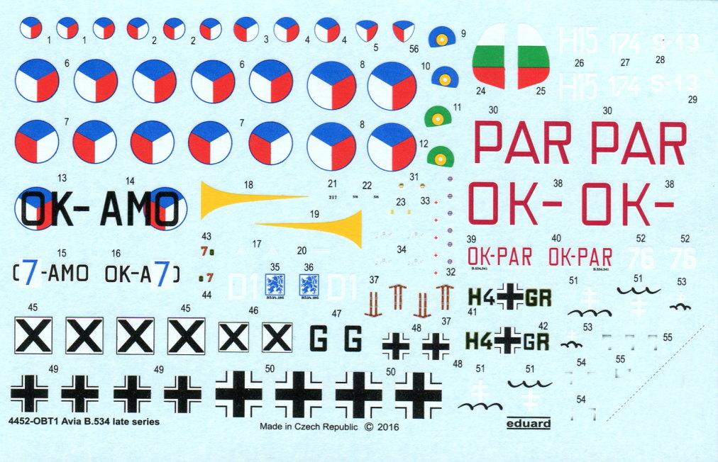 Eduard_Avia_534late_144_12 Avia B.534 late (Serie IV) - Eduard Quattro Combo - 1/144 --- #4452