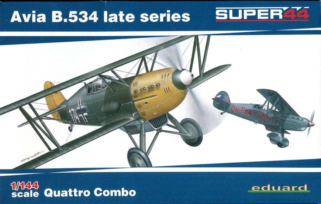 Eduard_Avia_534late_144_13 Avia B.534 late (Serie IV) - Eduard Quattro Combo - 1/144 --- #4452