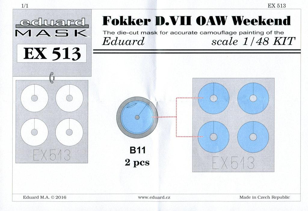 Eduard_D.VII-OAW_WE_20 Fokker D-VII OAW - Eduard Weekend Edition + Zubehör - 1/48 --- #84155