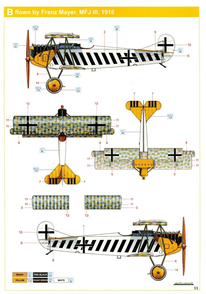 Eduard_D.VII-OAW_WE_32 Fokker D-VII OAW - Eduard Weekend Edition + Zubehör - 1/48 --- #84155