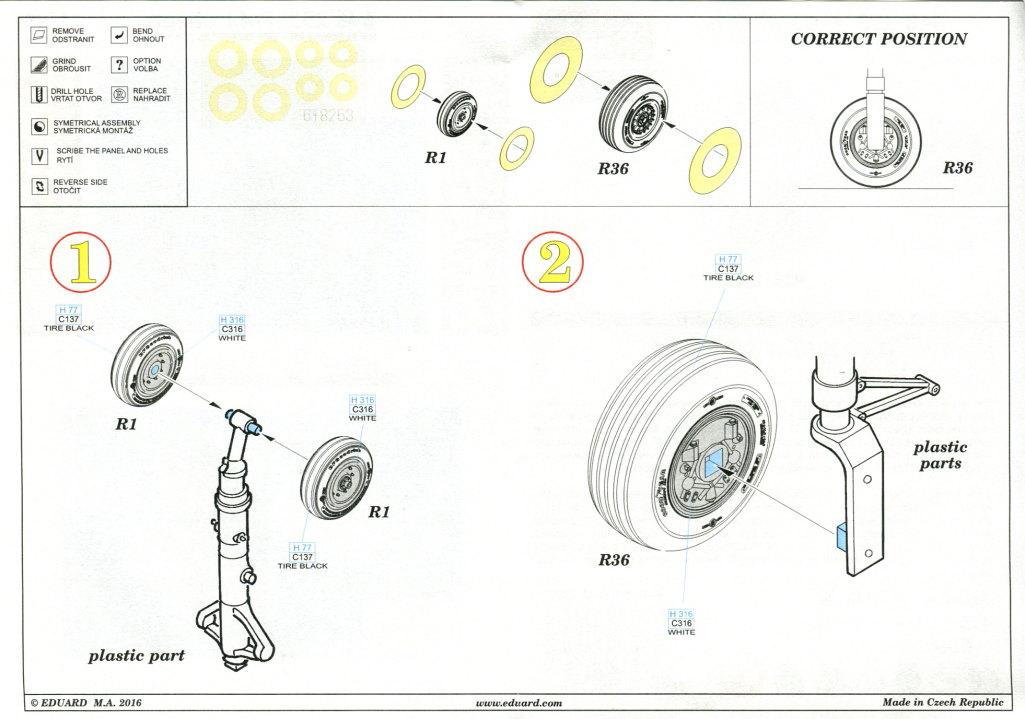 Eduard_f-4J_Wheels_06 Räder und Noozles für die Academy F-4J Phantom II - Eduard 1/48