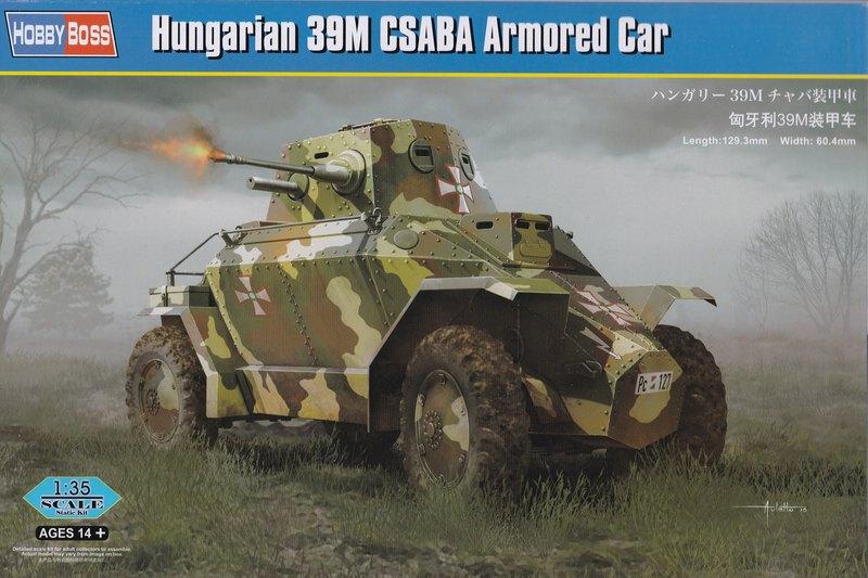 """HobbyBoss-ungar.-Spähwagen-39M-Csaba-Deckelbild Hungarian Armoured car """"Csaba"""" (Hobby Boss 1:35)"""