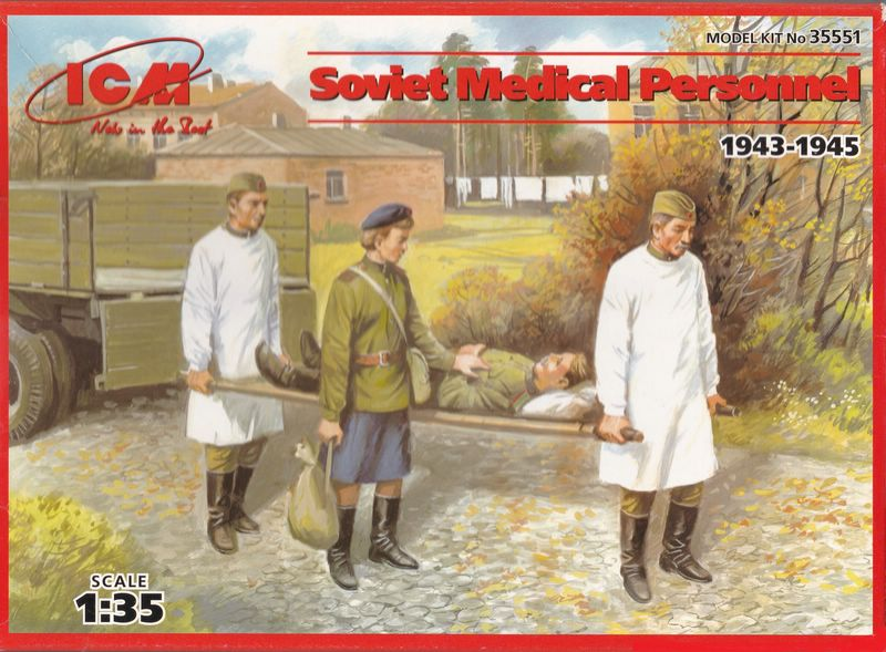 ICM-35551-Soviet-Medical-personnel-11 ICM Soviet Medical Personnel im Maßstab 1:35