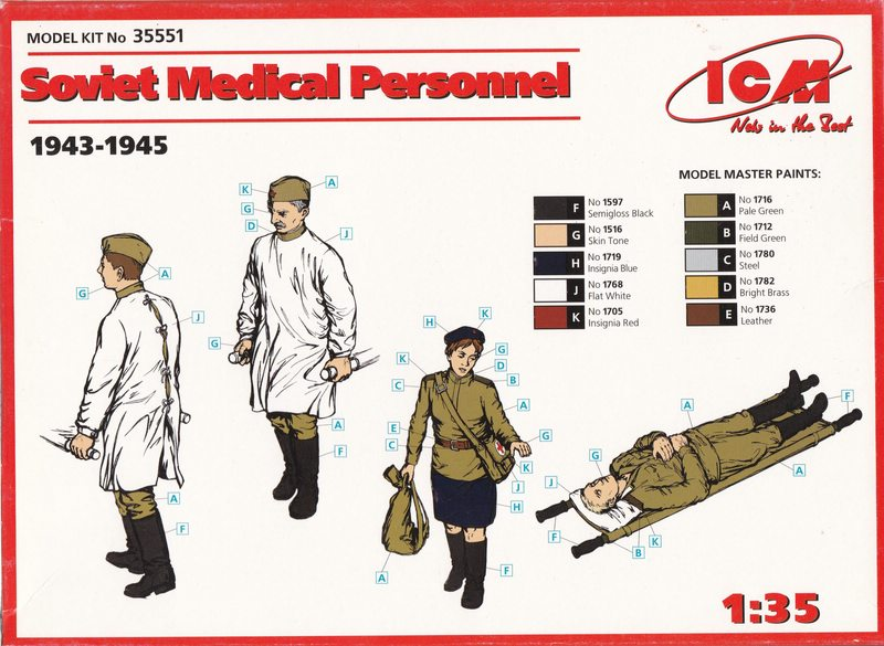 ICM-35551-Soviet-Medical-personnel-8 ICM Soviet Medical Personnel im Maßstab 1:35