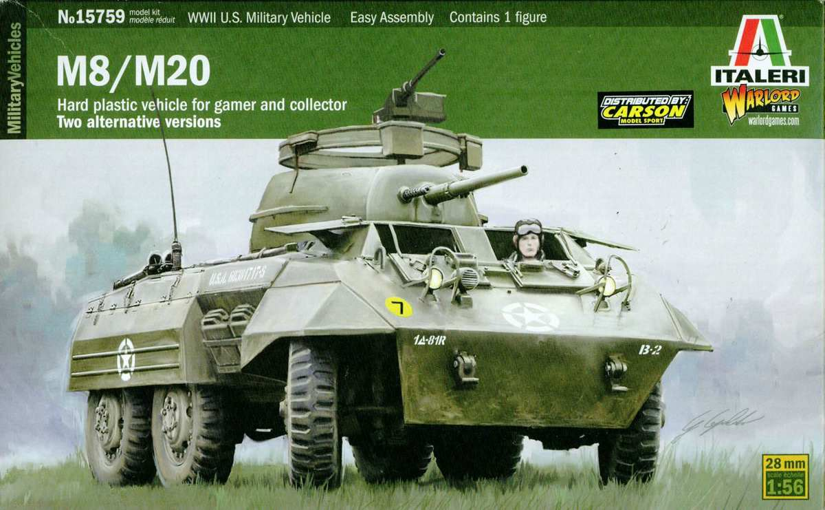 Italeri Warlord Games M8 Greyhound (2)