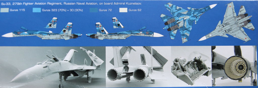 Kinetic_Su-33_001 Su-33 Flanker D  -  Kinetic  1/48 --- #48062