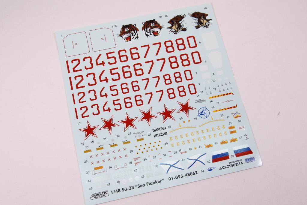 Kinetic_Su-33_065 Su-33 Flanker D  -  Kinetic  1/48 --- #48062