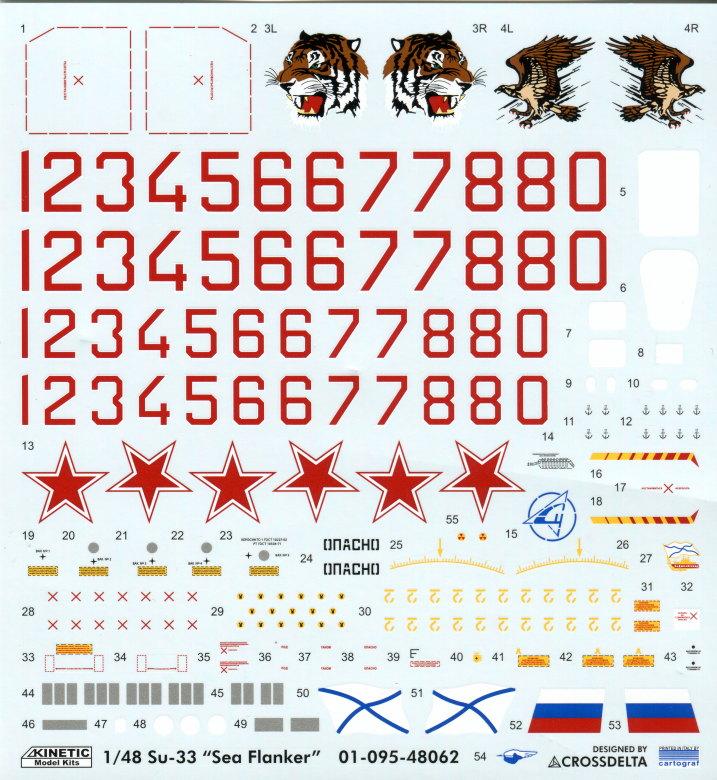 Kinetic_Su-33_088 Su-33 Flanker D  -  Kinetic  1/48 --- #48062