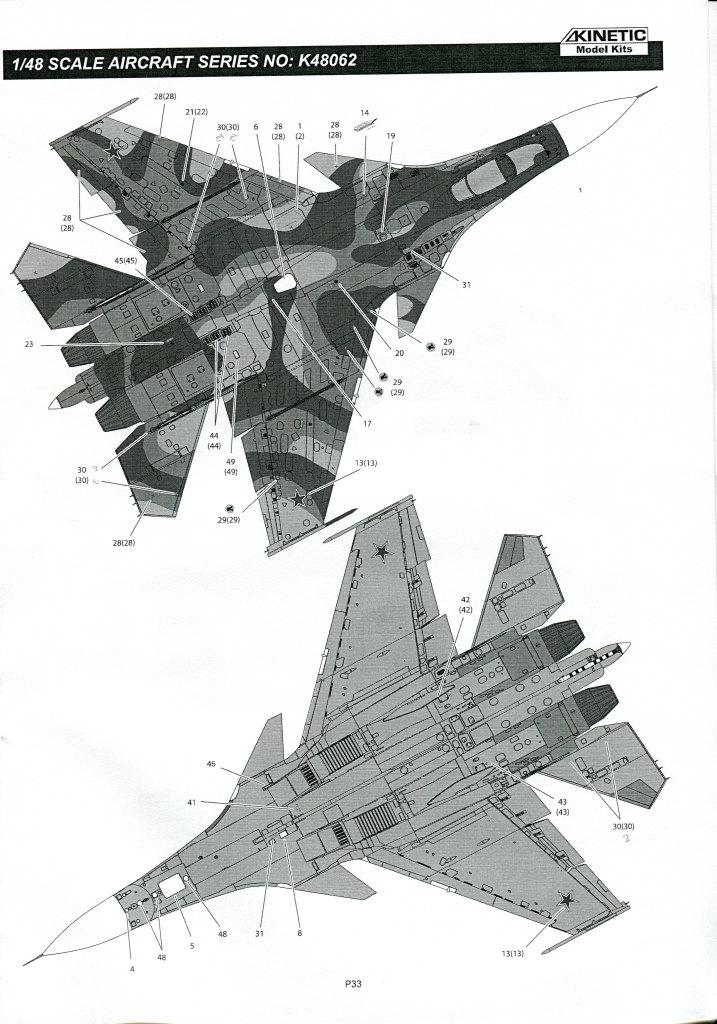 Kinetic_Su-33_123 Su-33 Flanker D  -  Kinetic  1/48 --- #48062