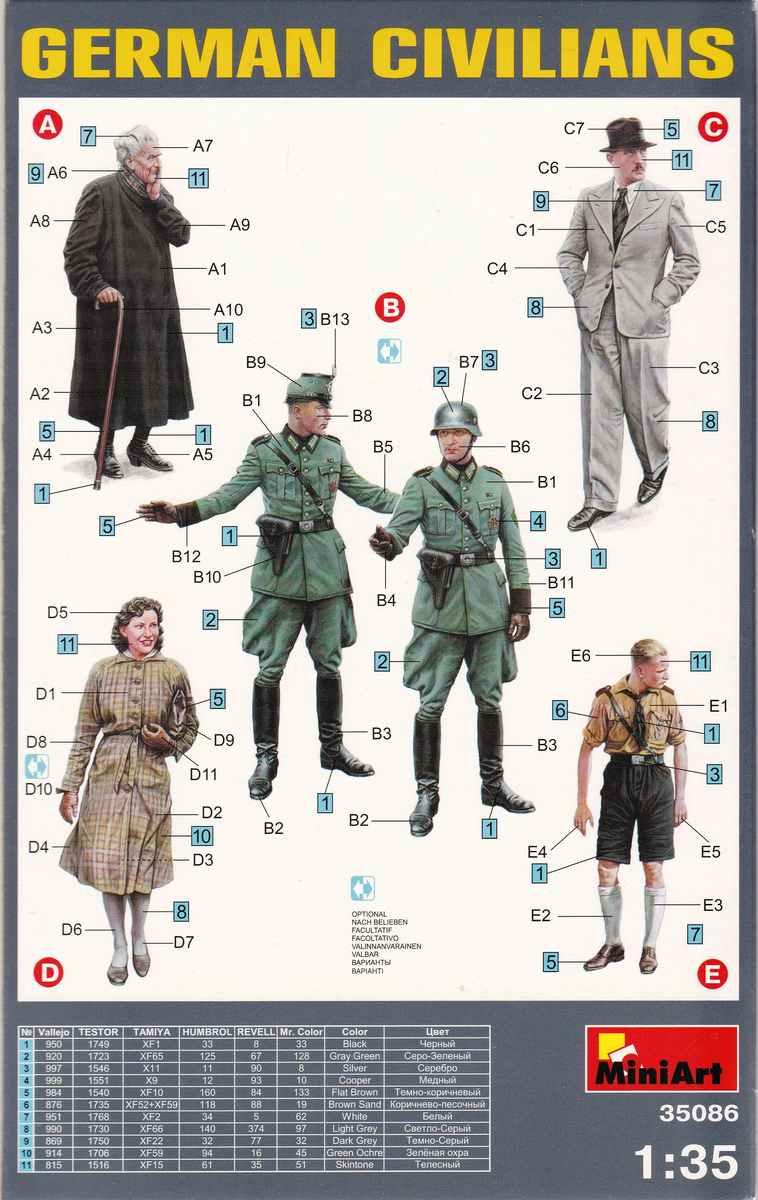 MiniArt-35086-German-Civilians-16 Figurenset German Civilians von MiniArt # 35086