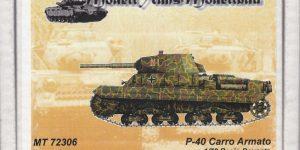 Carro Armato P.40 von Modelltrans ( MT 72306 ) im Maßstab 1:72