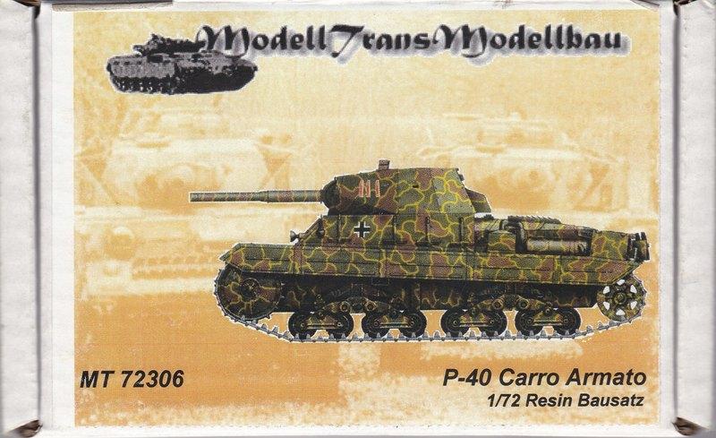 ModellTrans-MT-72306-P-40-Carro-Armato-1 Carro Armato P.40 von Modelltrans ( MT 72306 ) im Maßstab 1:72