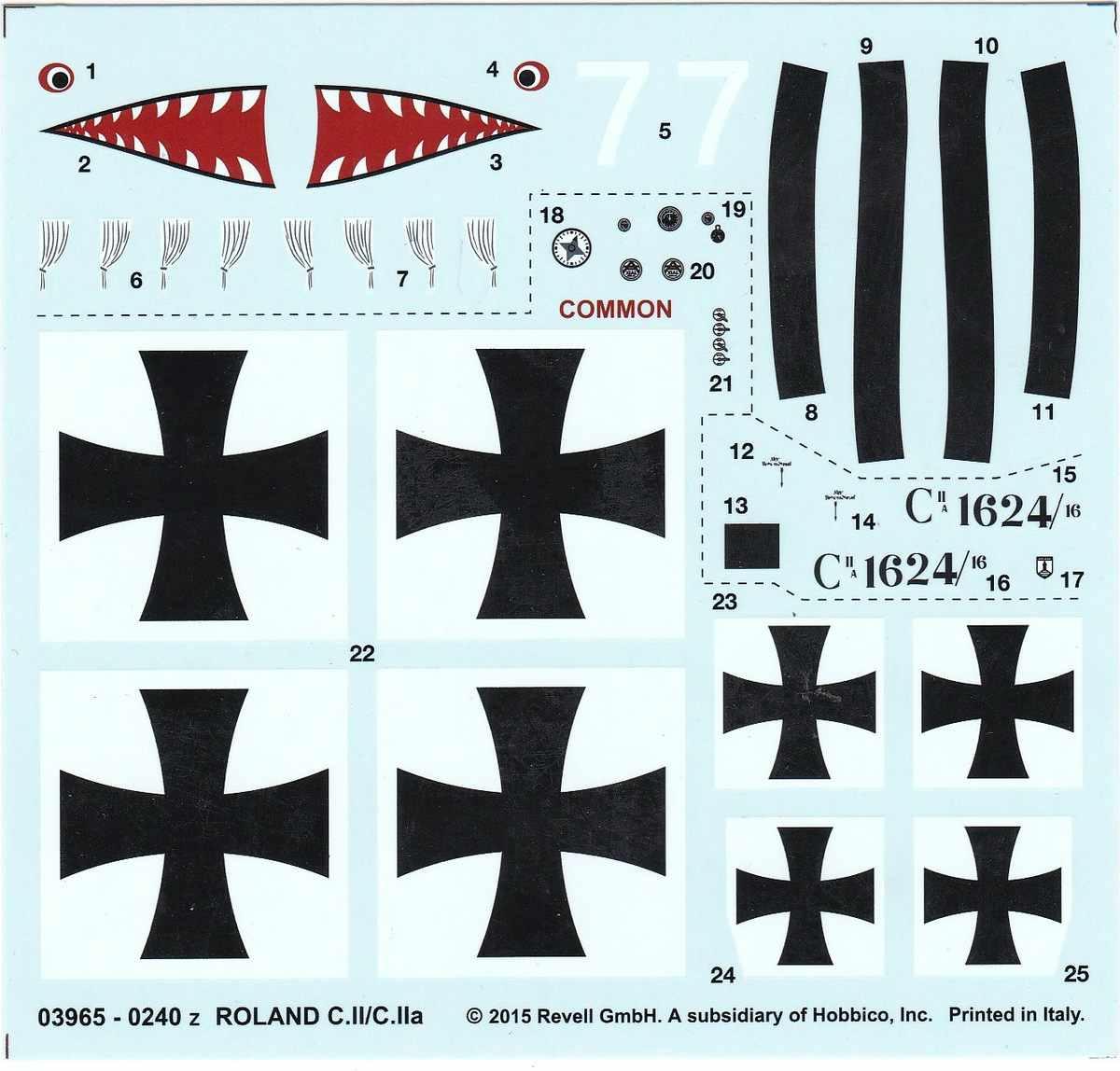 Revell-03965-Roland-C.II-Walfisch-25 Roland C.II Walfisch von Revell im Maßstab 1:48 (# 03965)