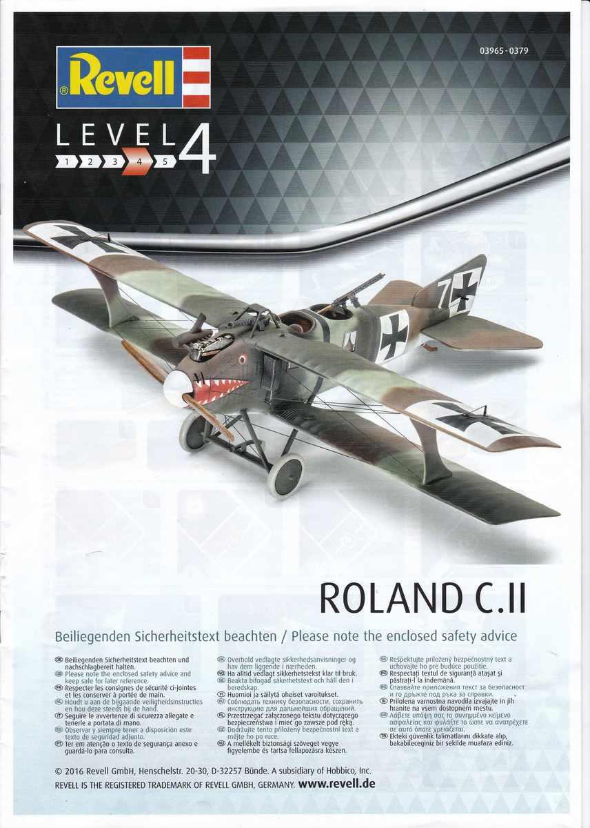 Revell-03965-Roland-C.II-Walfisch-27 Roland C.II Walfisch von Revell im Maßstab 1:48 (# 03965)