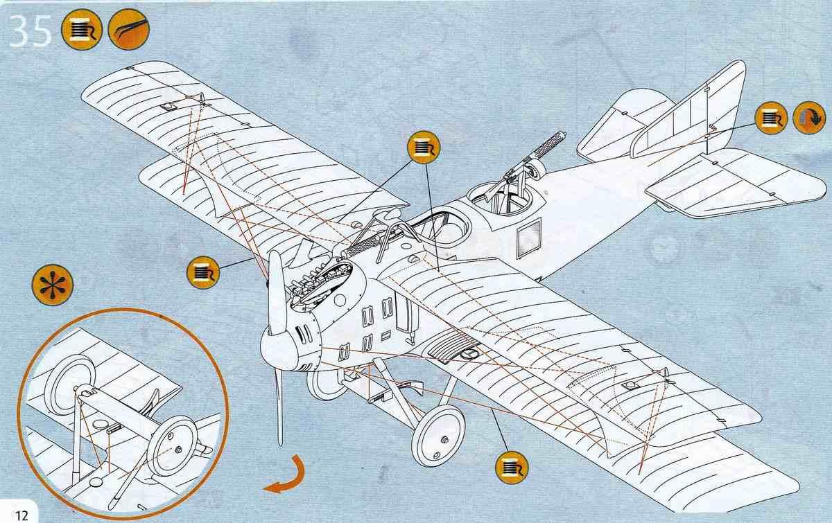 Revell-03965-Roland-C.II-Walfisch-32 Roland C.II Walfisch von Revell im Maßstab 1:48 (# 03965)